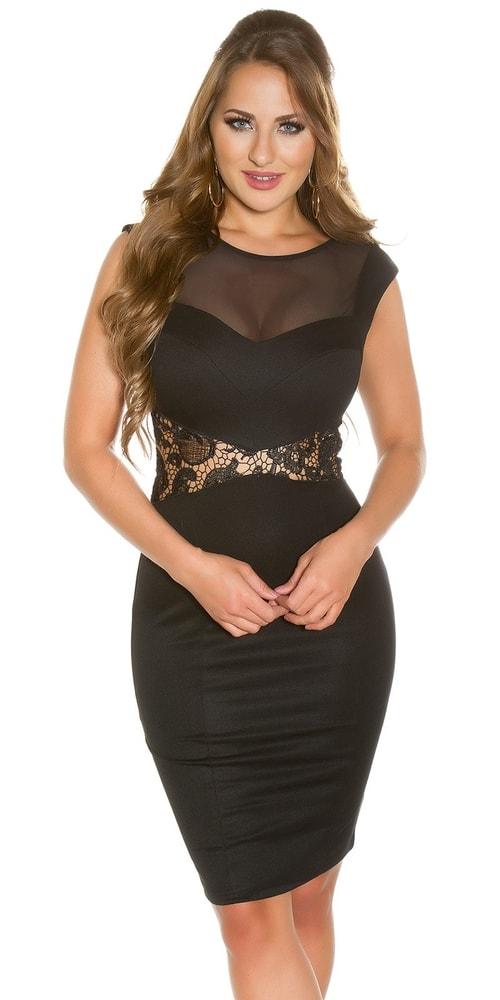Koktejlové šaty - čierne Koucla in-sat1018bl