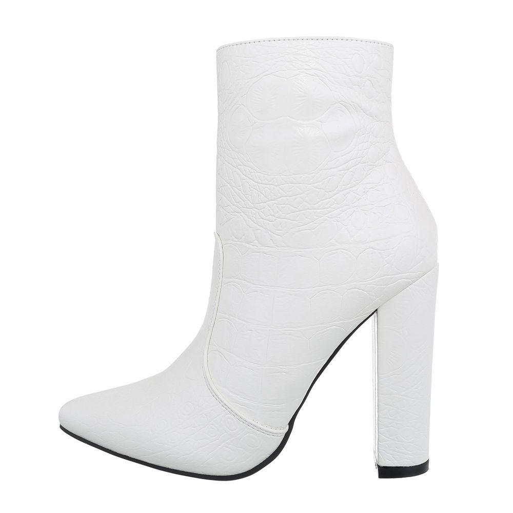 Bílé nízké kozačky - 37 EU shd-oko1254wh