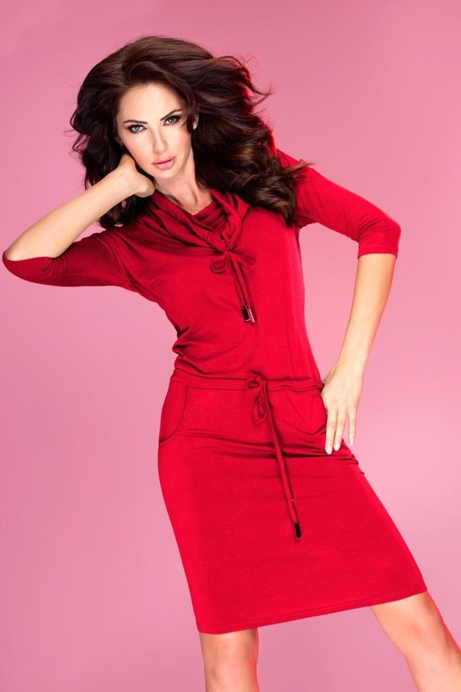 Červené dámske šaty 44-13 - L Numoco nm-sat44re