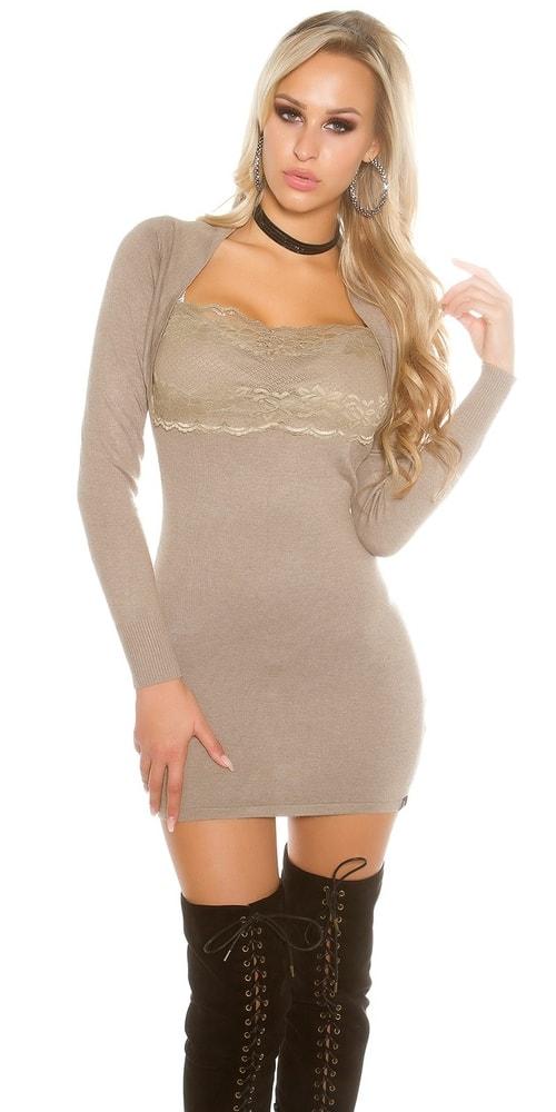 Mini úpletové šaty Koucla in-sat1401ta