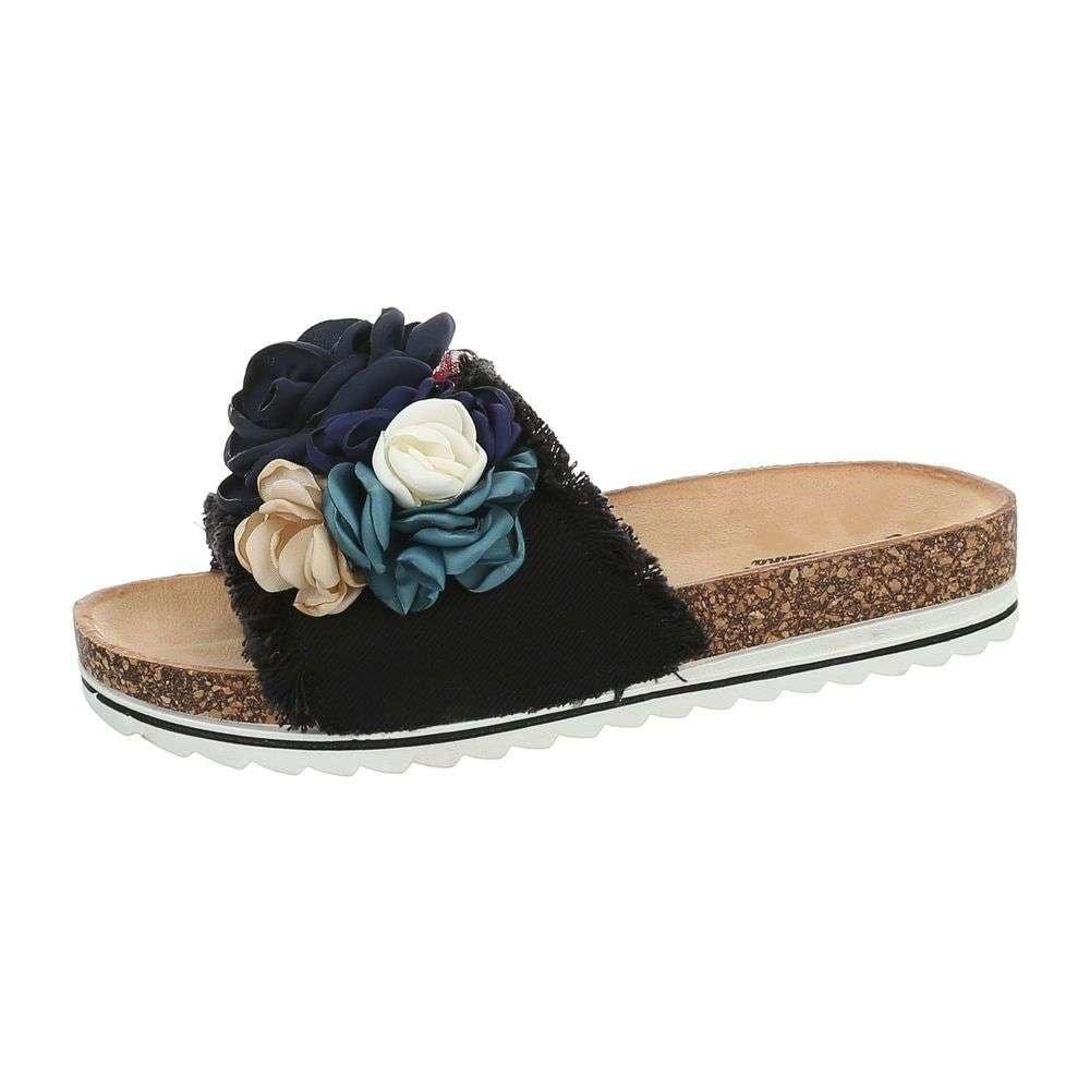 Dámske papuče s kvetmi - 41 EU shd-opa1057bl