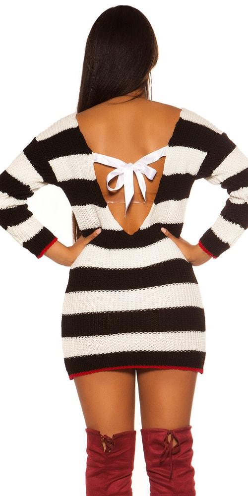 Dámské úpletové mini šaty Koucla in-sv1795bl