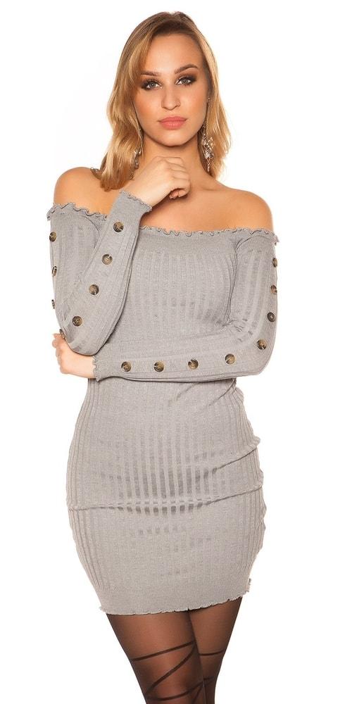 Dámské úpletové šaty Koucla in-sat1191gr