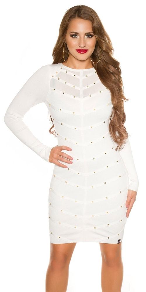 Úpletové dámské šaty Koucla in-sat1724wh