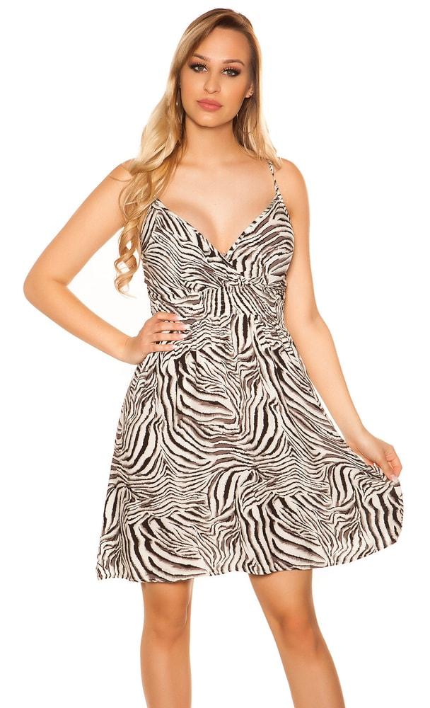 Letní šaty s potiskem Koucla in-sat2043bl