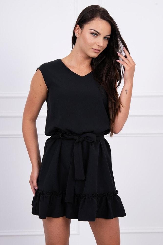 Čierne mini šaty Kesi ks-sa03bl