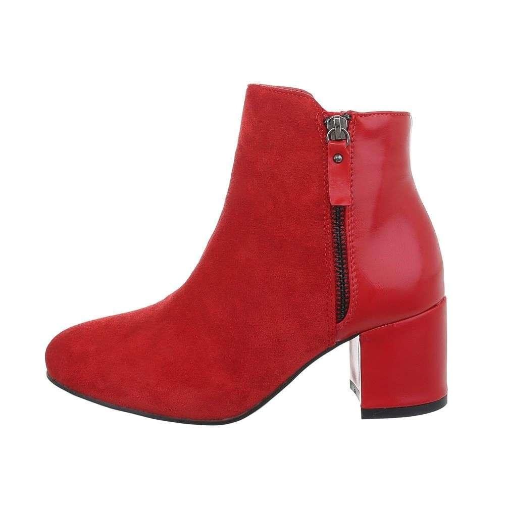 Červené členkové topánky EU shd-okk1220re