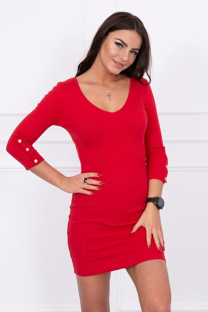 Červené dámské šaty - S/M Kesi ks-sa5244re
