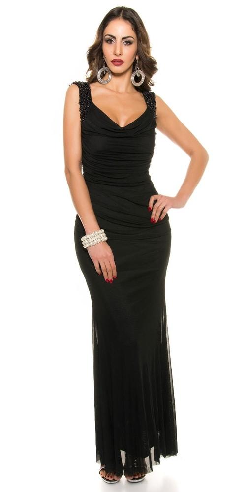 Elegantné plesové šaty - M Koucla in-sat1047bl