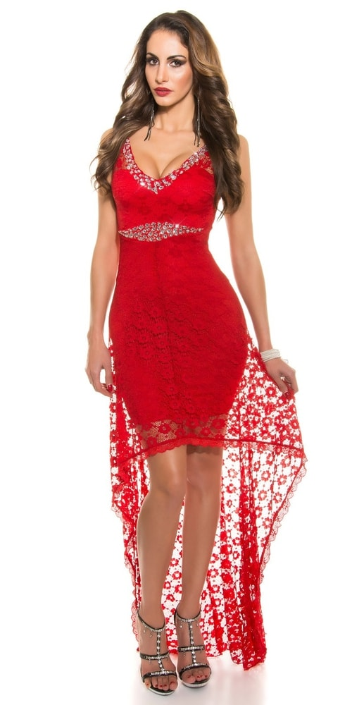 Koktejlové šaty červené - S Koucla in-sat1210re