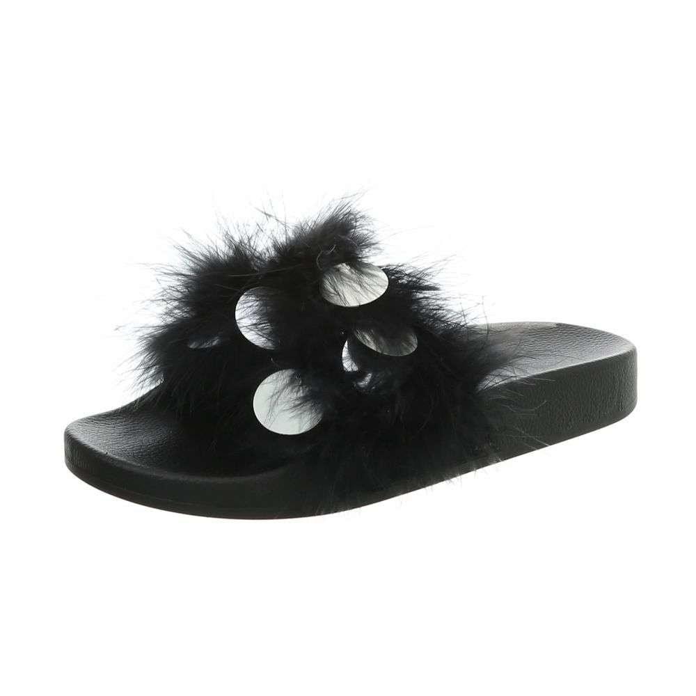 Dámske čierne papuče EU shd-opa1004bl