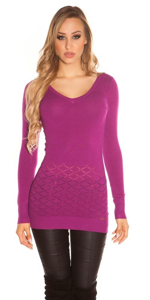 Elegantný dámsky sveter - S/M Koucla in-sv1687vi
