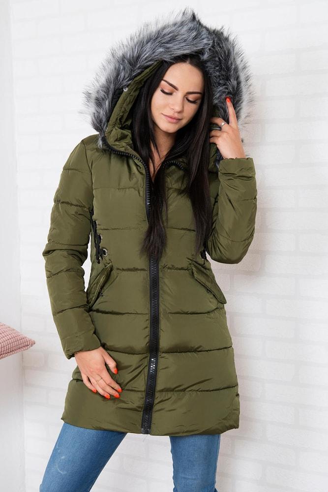 Zimná dámska bunda s kapucňou Kesi ks-bu2662kh