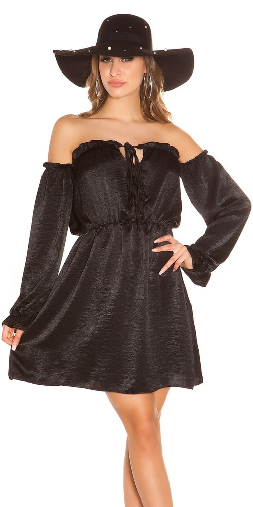 Čierne mini šaty Koucla in-sat1847bl