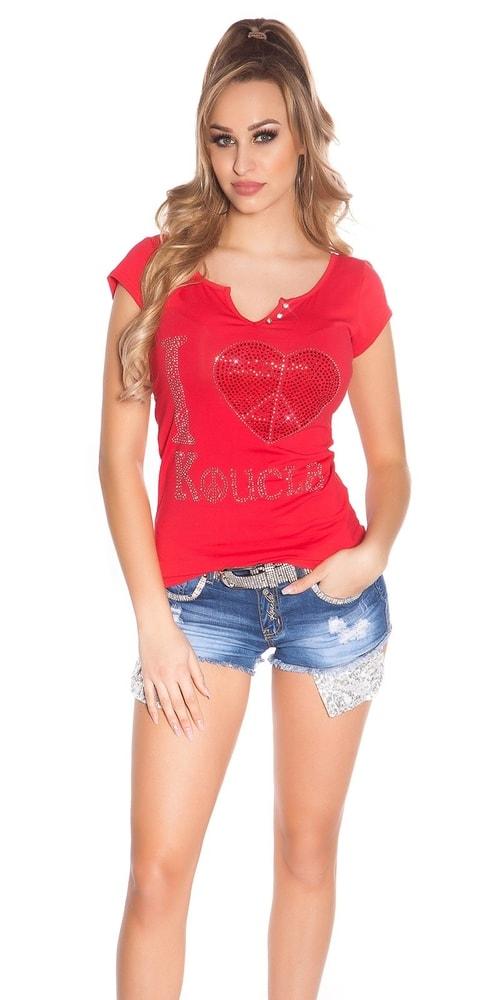 Dámské tričko červené Koucla in-tr1146re