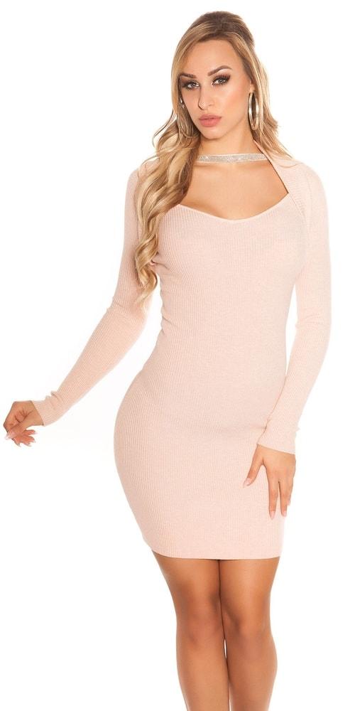 Dámské mini šaty z úpletu Koucla in-sat1690spi