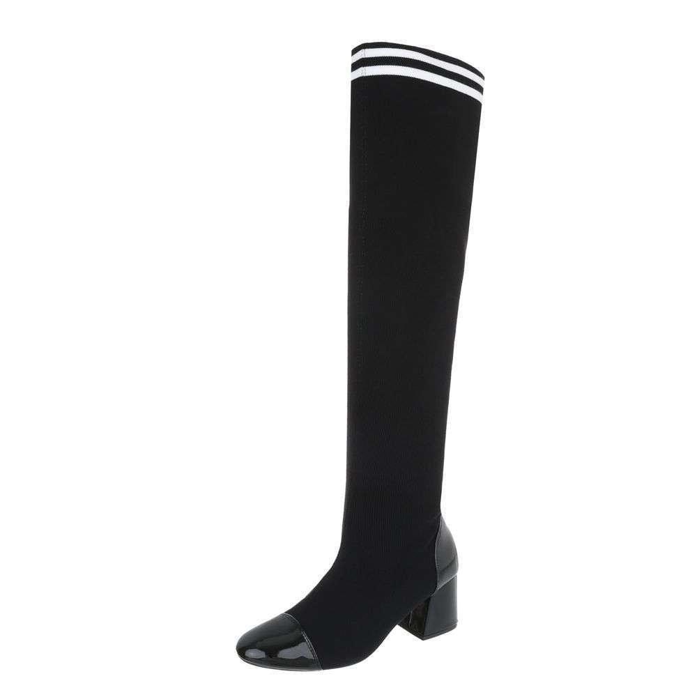 Čierne vysoké čižmy - 39 EU shd-oko1096bl