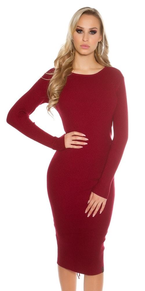 Dlhé dámske pletené šaty Koucla in-sat1415bo