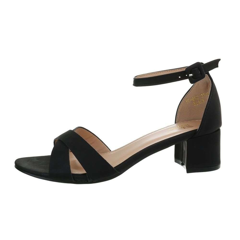 Spoločenské čierne sandále - 38 EU shd-osa1294bl