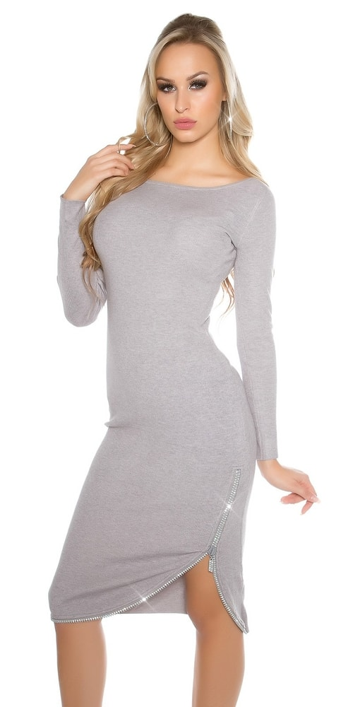 Pletené dámske šaty Koucla in-sat1425gr