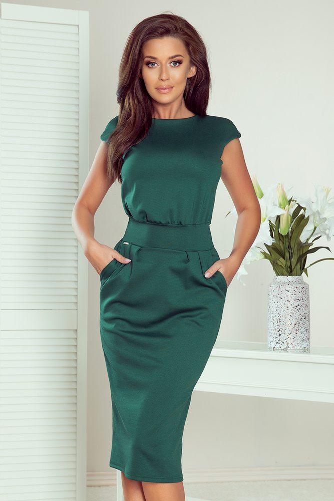 Tmavě zelené dámské šaty - M Numoco nm-sat144-8