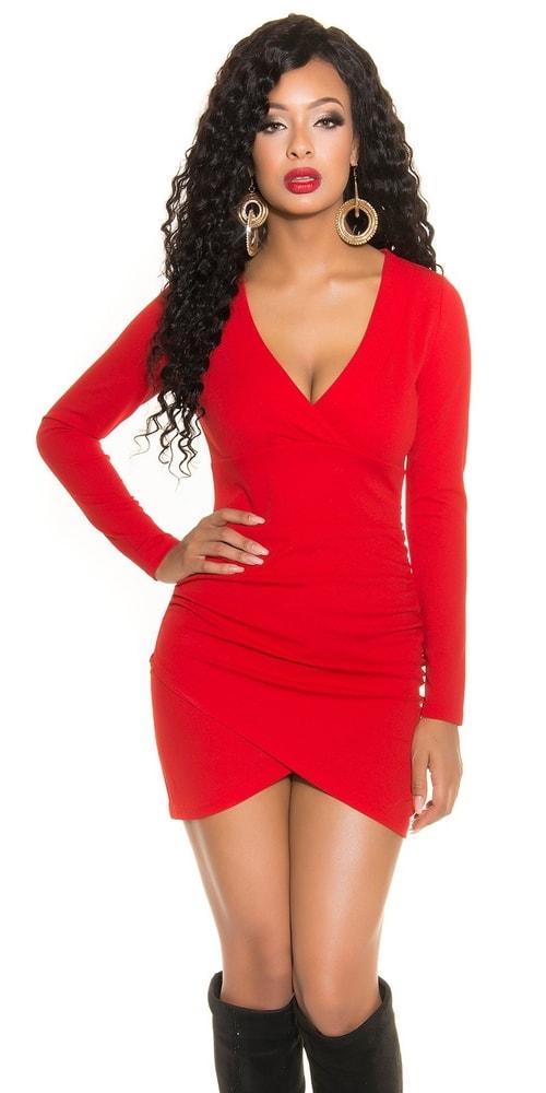 Červené dámske šaty - M Koucla in-sat1263re