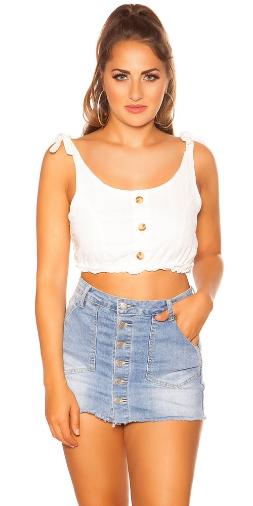 Letní crop top Koucla in-to1470wh