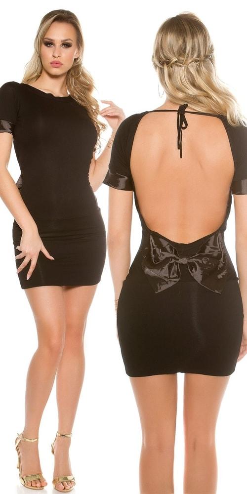 Čierne dámske krátke šaty Koucla in-sat1437bl