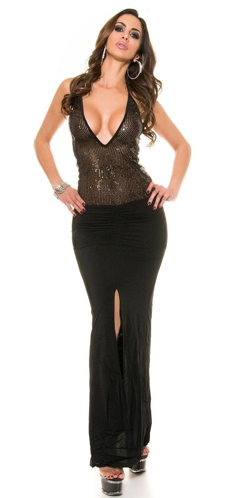 Sexy dlhé šaty Koucla in-sat1233bl