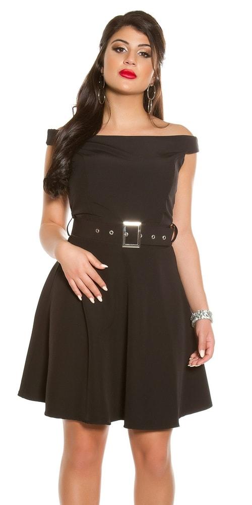 Čierne dámske šaty Koucla in-sat1842bl