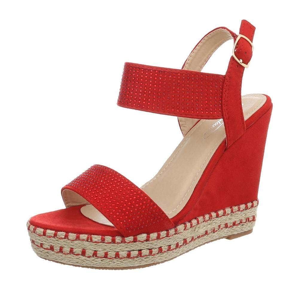 Sandále na kline červené - 39 EU shd-osa1198re
