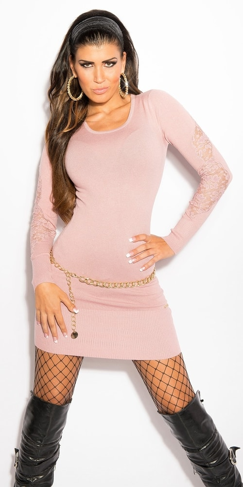 Úpletové mini šaty Koucla in-sat1109spi