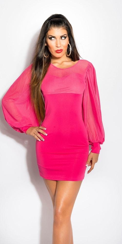 Ružové dámske šaty - Uni in-sat1183pi