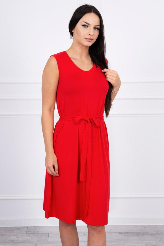 Letné červené šaty Kesi ks-sa8899re