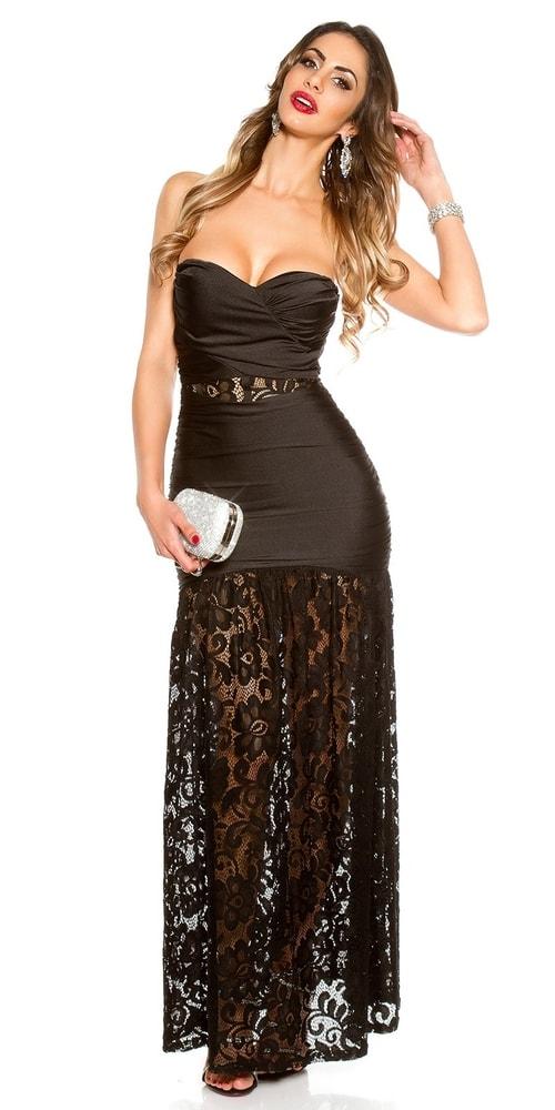 Čierne plesové šaty Koucla in-sat1712bl
