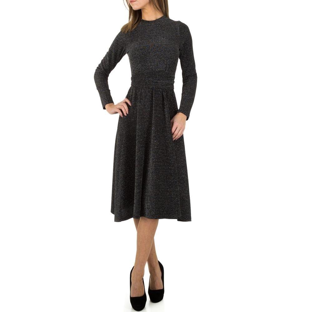 Úpletové dámské šaty EU shd-sat1073bl