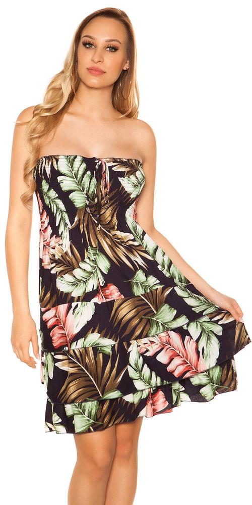 Letní šaty s potiskem Koucla in-sat2031tm