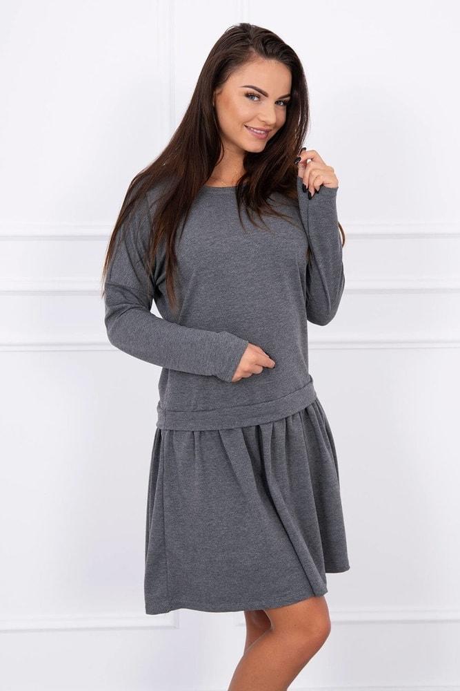 Dámské šedé šaty Kesi ks-sa8942tg