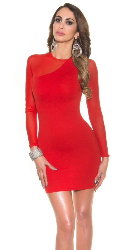 Dámske červené elegantné šaty - M Koucla in-sat1131re