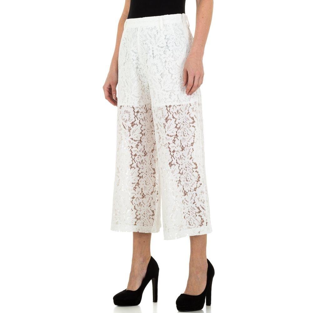 Čipkované dámske nohavice - S/36 EU shd-ka1121wh