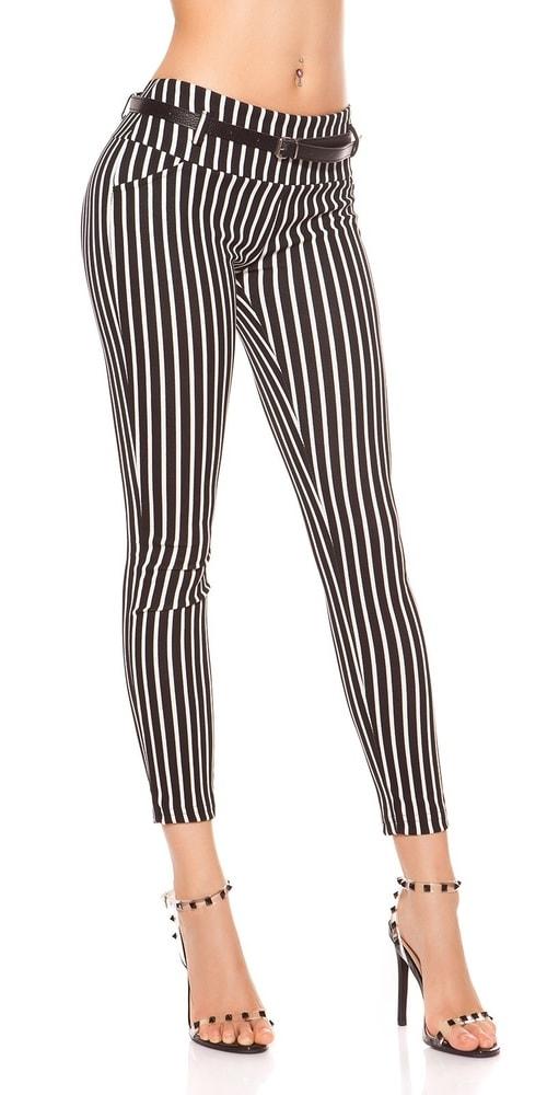 Dámske pruhované nohavice Koucla in-ka1231