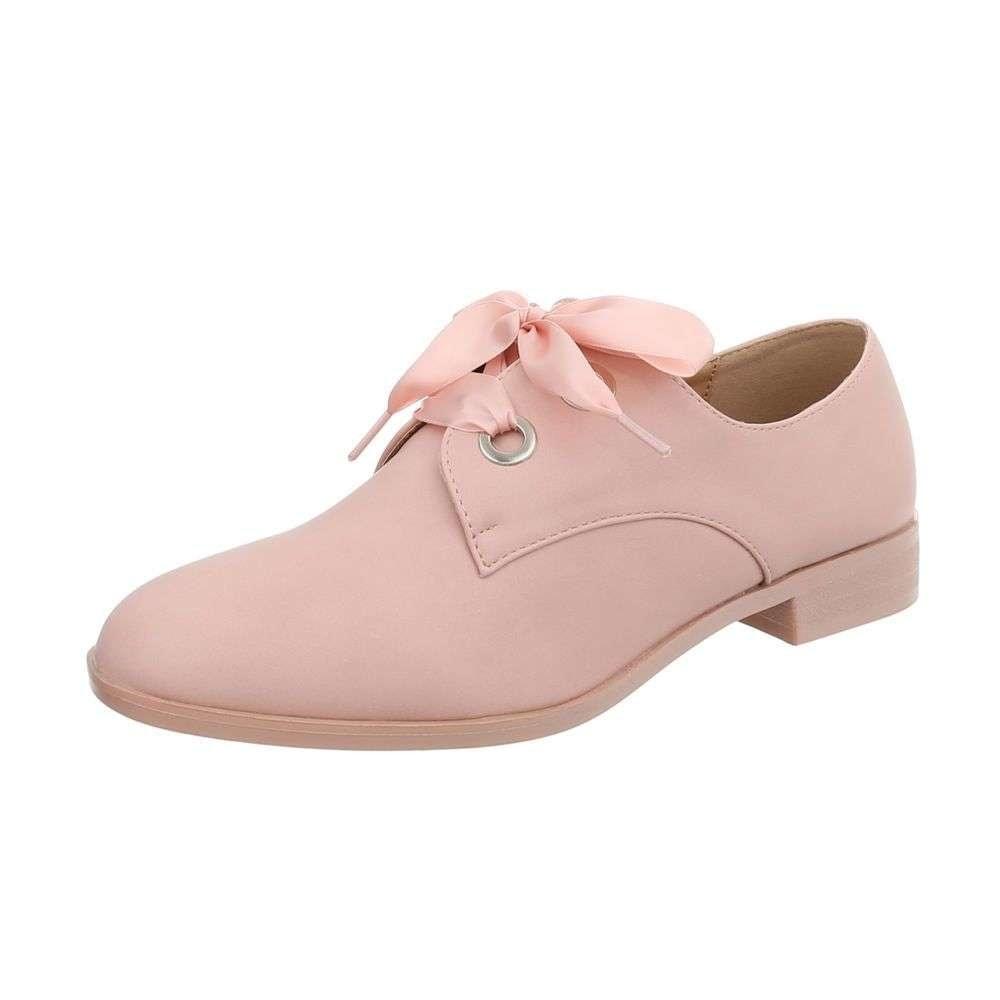 Dámske ružové poltopánky - 38 shd-opo1053pi
