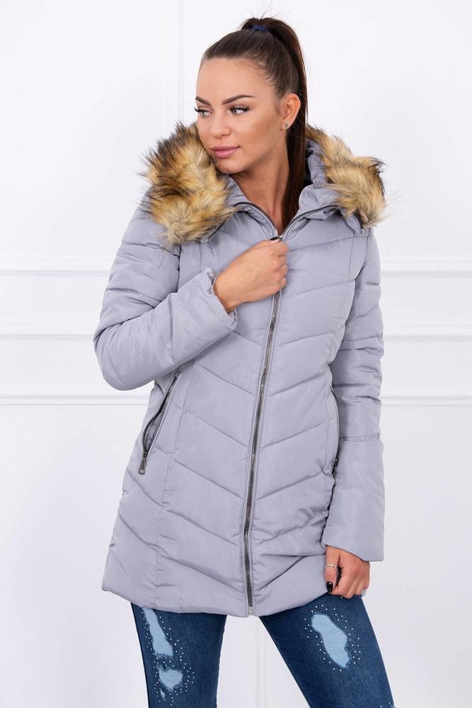 Zimná bunda s kapucňou Kesi ks-bu1807gr