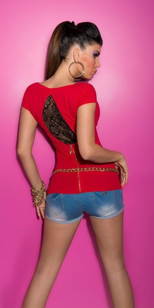 Červené dámske tričko Koucla in-tr1190re