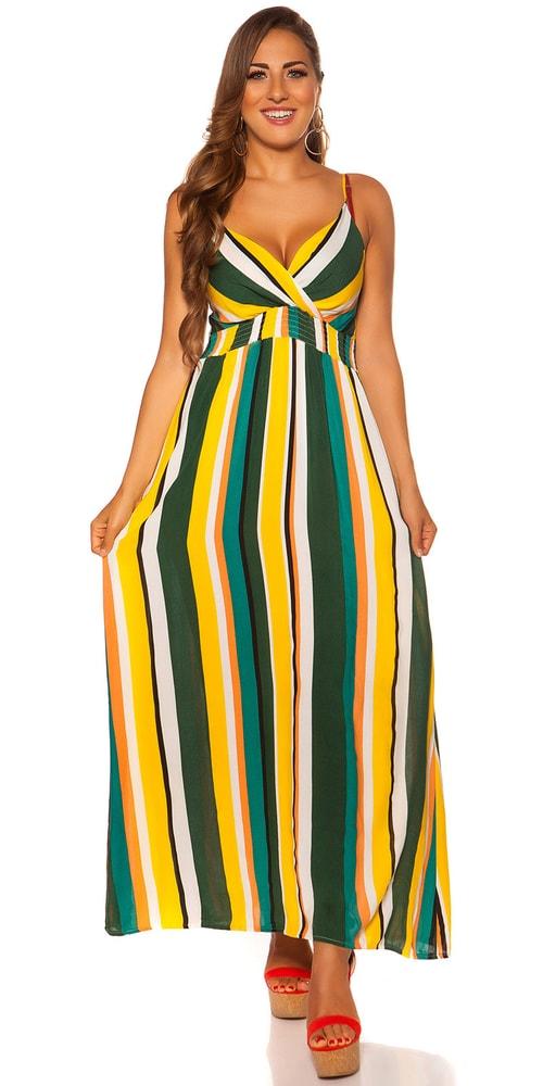 Pruhované letní šaty - M/L Koucla in-sat2061ze