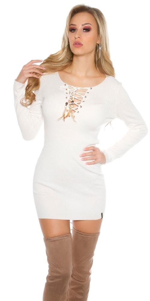 Dámske šaty z úpletu - Uni Koucla in-sat1469wh