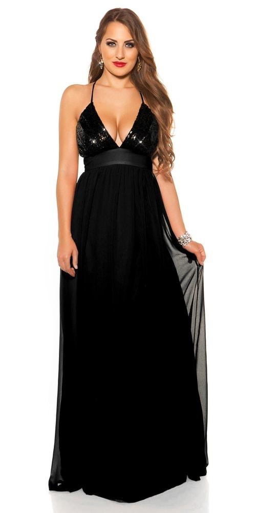 Plesové černé šaty Koucla in-sat1953bl