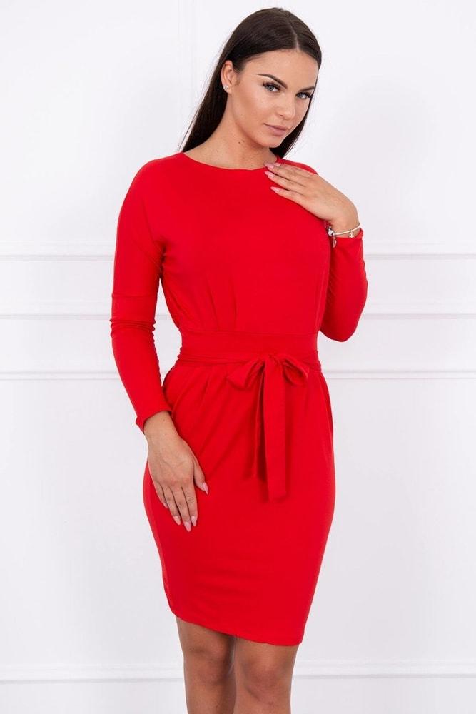 Dámske červené šaty - M Kesi ks-sa8926re