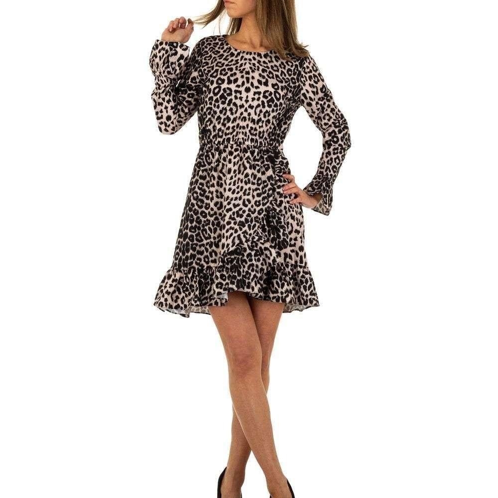 Šaty s leopardím motívom EU shd-sat1089leo