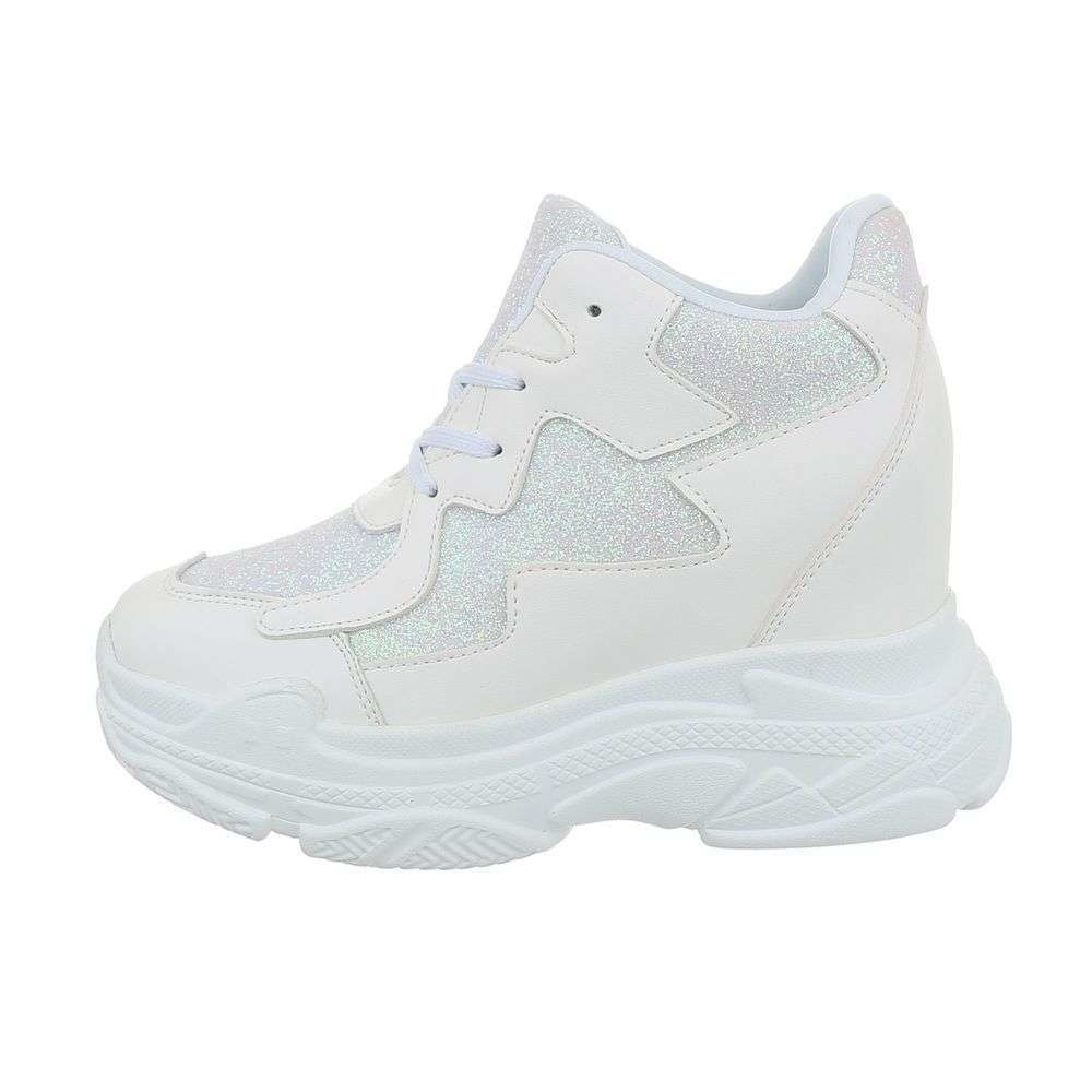 Bílé tenisky na klínku - 40 EU shd-osn1251wh